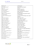 Tiếng Anh giao tiếp cơ bản - Unit 6