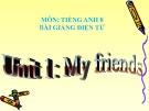 Bài giảng Tiếng Anh 8 Unit 1: My friends