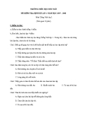 Đề kiểm tra 1 tiết Tiếng Việt lớp 2 - Trường TH Đồi Ngô (Kèm đáp án)