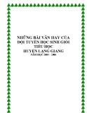 Những bài làm văn hay của học sinh tiểu học Lạng Giang