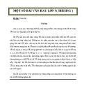 Một số bài văn hay lớp 5 (thi HSG)