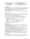 Đề thi học sinh giỏi Hóa học 12  - Sở GD&ĐT Thái Nguyên - Kèm đáp án