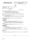 Đề kiểm tra học kỳ II Môn Toán lớp 10 (Đề 1) - THPT Bắc Trà My