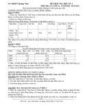 Đề kiểm tra học kỳ 1 Địa 12 (Kèm đáp án)