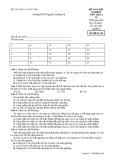 Đề kiểm tra trắc nghiệm Vật lí 10 - THPT Nguyễn Trường Tộ đề 136