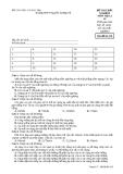 Đề kiểm tra trắc nghiệm Vật lí 10 - THPT Nguyễn Trường Tộ đề 210
