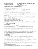 Đề thi học kì 1 môn Toán lớp 11 năm 2012-2013 - Trường THPT Khâm Đức