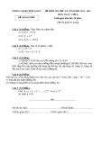 Đề kiểm tra học kì 1 môn Toán lớp 6 năm 2013-2014 - Sở GD&ĐT Bình giang