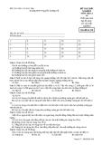 Đề kiểm tra trắc nghiệm Vật lí 10 - THPT Nguyễn Trường Tộ đề 358