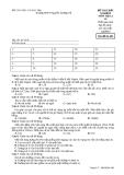 Đề kiểm tra trắc nghiệm Vật lí 10 - THPT Nguyễn Trường Tộ đề 485