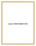 Luật số 30/2013/QH13 2013