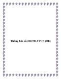 Thông báo số 222/TB-VPCP 2013
