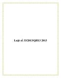 Luật số 33/2013/QH13 2013