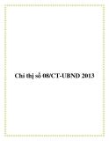 Văn bản chỉ thị số 08/CT-UBND 2013