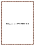 Thông báo số 219/TB-VPCP 2013