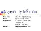 Bài giảng Nguyên lý kế toán: Chương 1 - Th.s Đào Thị Thu Giang