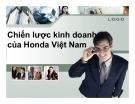 Tiểu luận: Chiến lược kinh doanh của Honda Việt Nam