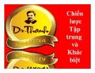 Tiểu luận: Chiến lược tập trung và khác biệt của trà thảo mộc Dr Thanh