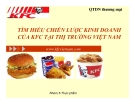 Tiểu luận: Tìm hiểu chiến lược kinh doanh của KFC tại thị trường Việt Nam