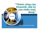 """Tiểu luận: Thành công của Vinamilk: Giá trị của chiến lược đúng"""""""