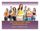 Tiểu luận: Đào tạo và phát triển nguồn nhân lực