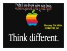 Tiểu luận: Chiến lược thành công của Apple