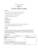 Giáo án bài 26: Chi tiêu trong gia đình - Công nghệ 6 - GV.Hoàng Tuấn