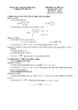 Đề kiểm HK2 Toán 11 - THPT Lấp Vò 3 (2012-2013) - Kèm đáp án