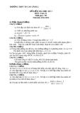 Tổng hợp đề thi học kì 1 môn Toán lớp 11 năm 2012-2013 - Trường THPT Cao Lãnh 2