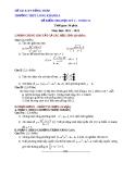 Đề kiểm tra HK2 Toán 11 - THPT Long Khánh A (2012-2013) - Kèm đáp án