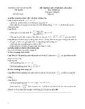 Đề thi HK1 Toán 12 - THPT Tháp Mười 2012-2013 (kèm đáp án)