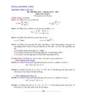Đề thi HK2 Toán 11 - THPT Lấp Vò 1 (2012-2013) - Kèm đáp án