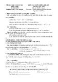 Đề KTCL HK1 Toán 12 - THPT Tân Thành 2012-2013 (kèm đáp án)