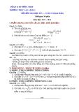 Đề kiểm tra HK2 Toán 11 - THPT Cao Lãnh 1 (2012-2013) - Kèm đáp án