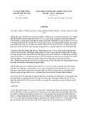 Chỉ thị số 10/CT-UBND năm 2013