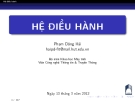 Bài giảng Hệ điều hành: Chương 2 - Phạm Đăng Hải
