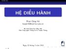 Bài giảng Hệ điều hành: Chương 3 - Phạm Đăng Hải