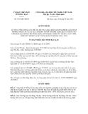 Quyết định 1367/QĐ-UBND