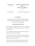 Quyết định số 1836/QĐ-BTC