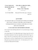 Quyết định 4737/QĐ-UBND
