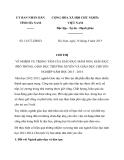 Chỉ thị 12/CT-UBND tỉnh Hà Nam