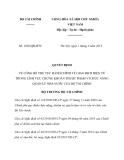 Quyết định số 1828/QĐ-BTC