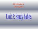 Bài giảng Tiếng Anh 8 Unit 5: Study habits