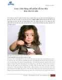 Lưu ý khi dùng chế phẩm hỗ trợ tiêu hóa cho trẻ nhỏ