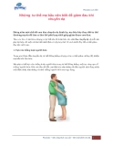 Những tư thế mẹ bầu nên biết để giảm đau khi chuyển dạ