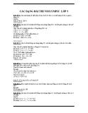 Tuyển tập các dạng bài thi Violympic Toán lớp 5