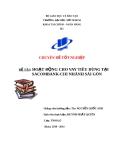 Chuyên đề tốt nghiệp: Hoạt động cho vay tiêu dùng tại Ngân hàng thương mại cổ phần Sài Gòn Thương Tín (Sacombank) – Chi nhánh Sài Gòn