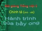 Bài giảng Chính tả: Nghe, viết: Hành trình của bầy ong - Tiếng việt 5 - GV.N.T.Hồng