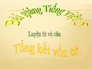 Bài giảng LTVC: Tổng kết vốn từ - Tiếng việt 5 - GV.N.T.Hồng
