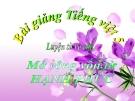 Bài giảng Luyện từ và câu: Mở rộng vốn từ: Hạnh phúc - Tiếng việt 5 - GV.N.T.Hồng
